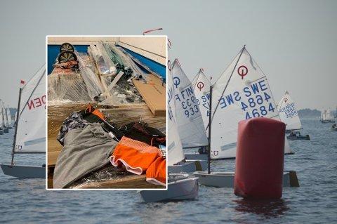 AKSJONERTE: Det var under nordisk juniormesterskap i seiling på Fjærholmen at Tollvesenet aksjonerte mot mannen. Bildet av seilbåtene er tatt i forbindelse med arrangementet.