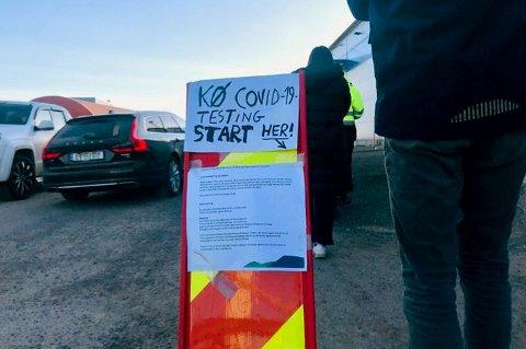 14.000 personer i fylket lot seg teste forrige uke, noe som er en nedgang på 3.000 personer. Her fra luftveisklinikken på Stensarmen i Tønsberg.