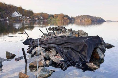 MUDRING: Arne Rød & Co ASmener at det har vært en menneskelig svikt og en misforståelse som har ført til at det ble sprengt i sjøen utenfor Nøtterøy uten tillatelse. De sprengte før søknaden var ferdigbehandlet.