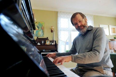 PÅ NAXOS: Svein Erik Tandberg vil om litt være klar med en plateinnspilling med sørtysk orgelmusikk fra Romantikken.