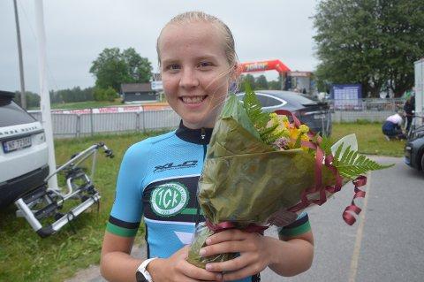 NM-BRONSE: Ina Nakken snuste på sølvet, fikk bronse i gateritt-NM. Foto: Evern Grinvoll