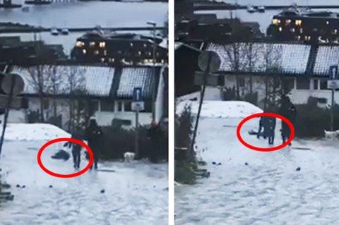 GLATT: Det var ikke lett å komme seg til sentrum i Tromsø onsdag morgen. Spesielt i Clodisubakken. Video: Nordlys-tipser.