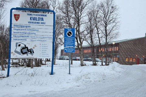 STENGTE ROM: Kvaløya videregående skole stengte ett av sine klasserom i forrige uke, etter at det ble påvist for høye radonverdier. Arkivfoto: Ole Åsheim