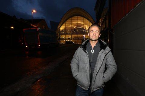 PÅ BESØK: André Lavold på julebesøk i Tromsø.