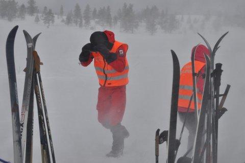 UVÆR: Atle Amundsen i Nord-Trøndelag Røde Kors venter at de fleste trekker ned fra fjellet allerede søndag. Illustrasjonsbilde.