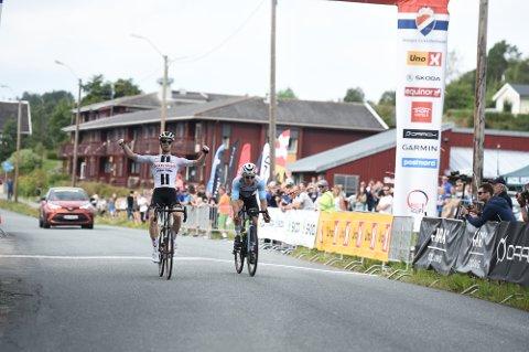 I FJOR: Vant Vegard Stokke fra Team Sunweb NC-fellestarten  på Skatval.