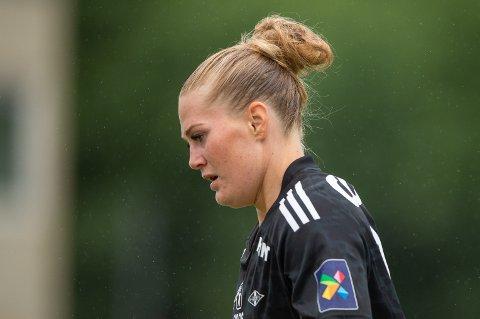 SCORET TO MÅL: Lisa-Marie Utland scoret to mål, men det var ikke nok til å sende Rosenborg videre i mesterligakvalifiseringen.