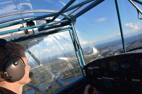 Asbjørn Rugnes er allerede en erfaren kaptein i mikrofly.