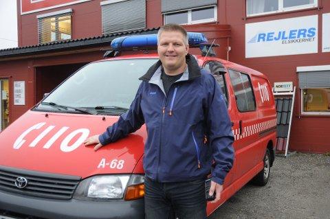 Jan Terje Lindtveit er brannmester i Østre Agder Brannvesen på Vegårshei. Arkivfoto