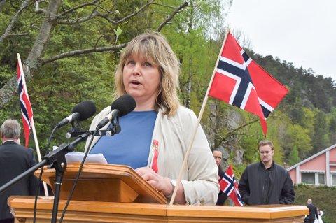 Siri Fossing holdt hovedtalen i Tvedestrand på 17. mai.