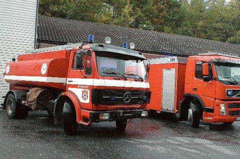 En bil fra denne brannstasjonen måtte rykke ut til landbruksskoleveien i dag. Arkivfoto