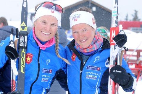 Til finale: Målet for Mari Eide (t.v.) og Maren Wangensteen var finale, noe de også klarte.