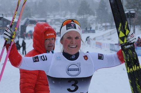 God start: Mari Eide etter andreplassen på Beitosprinten. Nå går turen til Kuusamo, og det blir en ny opplevelse for 28-åringen.