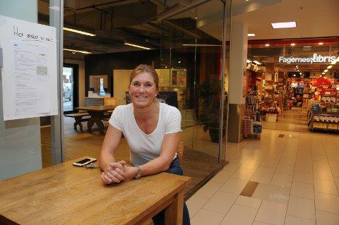 Lokaler: Heidi Arnesen har lokalene klare for oppstart av restaurantkjeden Subway, på Fagernes Kjøpesenter.