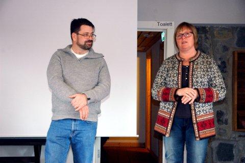 Ganske sikre: Vegard Riseng (H) og Inger Torun Klosbøle (Ap), begge frå Nord-Arudal, er to av fire frå Valdres som truleg kjem inn i det nye fylkestinget for Innlandet.