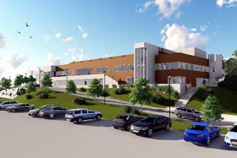 Formannskapet i Sør-Aurdal fungerer som byggekomite for ny hall(tegning). I dag møtes politikerne, uten offentlig  innkalling eller saksliste.