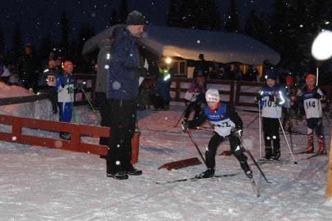 Ti år: Her legger Sander Hagaseth fra Skrautvål IL ut på sine 1,2 kilometer i friteknikk.