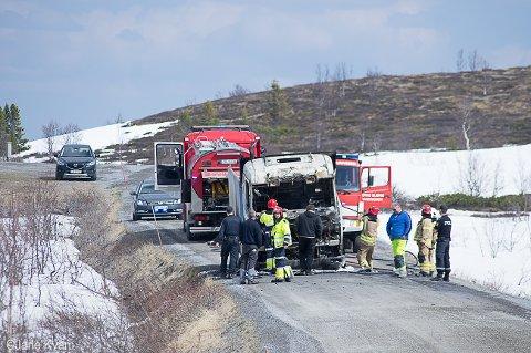Utbrent: Lastebilen var bra utbrent.