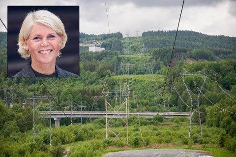 Uvanlig høyt: Line Hovrud, markedssjef i Kraftriket, mener strømprisene var uvanlig høye i juni. Innfelt bilde er tatt av Kraftriket.