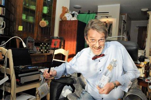 Humorist: På tross av alvorlig sjukdom liker Carl Lund å framstå som en humorist.