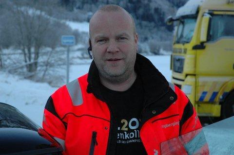 Arve Wangensten har tungbil-bergere underveis fra to kanter. Foto:Arkiv