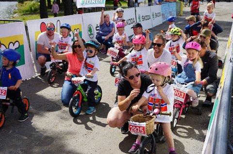 SYKKELRITT: Det populære sykkelrittet Tour of Norway for kids tar turen innom Fagernes-parken i slutten av august.