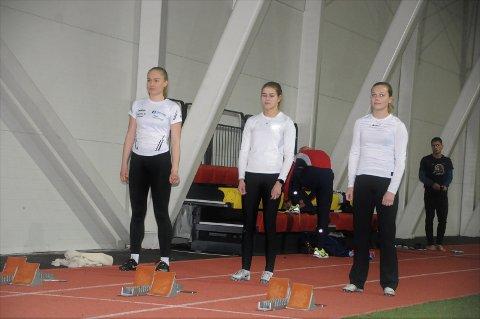 Tre raske jenter: F.v. Sigrid Andrine Garvik, Laura van der Veen og Malin Rundbråten Ludvigsen.