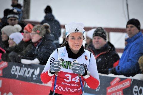 Sterke løp: Maren Wangensteen fikk lungeemboli før jul, men i helga gikk hun meget gode renn i norgescupen i Førde i Vestland fylke.
