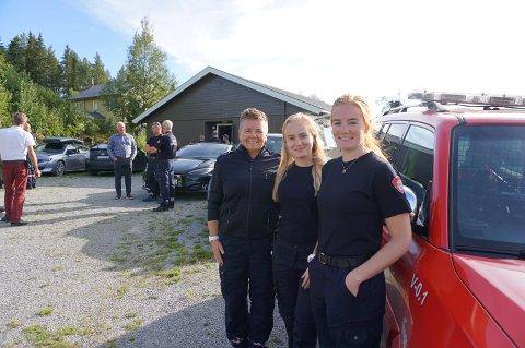 FORNØYDE: Ann Kristin Bærøy (t.v.) tjenestegjør ved stasjonen på Heggenes, mens Astri Gihle og Jorunn Hegge er stasjonert på Beitostølen. Alle er svært tilfreds med de nyoppussete lokalene, og at det meste nå er veldig bra lagt til rette.