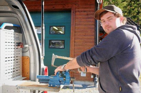 Bedriftseier: Drømmen til Ronni Røang (27) har lenge vært å starte sitt eget rørleggerfirma, og 1. september overtokk han VVS-service i Bruflat.