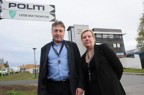 POLITIREFORMEN: Ordfører Hilde Thorkildsen (Ap) og varaordfører Inge Solli (V) er klare til kamp for  beholde Nittedal lensmannskontor.
