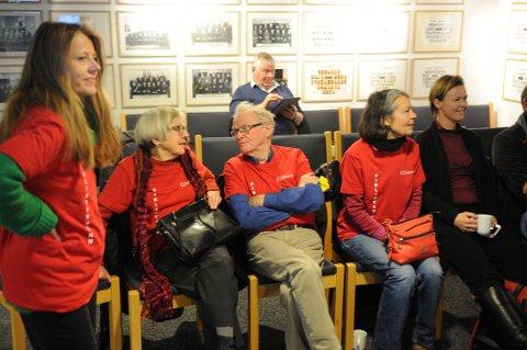 GODE VENNER: Bibliotekets venneforening var godt representert på tilhørerplass under mandagens budsjettmøte i formannskapet.