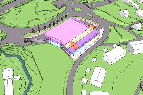 KJUL HANDEL: Slik ser planene ut for det nye handelshuset på Kjul.