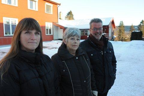 Styret i Mental Helse Nittedal, fra venstre Marit Molstad, Brith Blaasaas og leder Kjell Kjepperud.