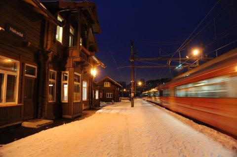Hakadal stasjon. Arkivfoto