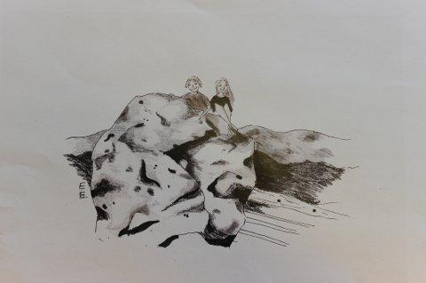 RUDSTEINEN: Illustrasjon Elise Ruud (Artikkelforfatterens barnebarn).