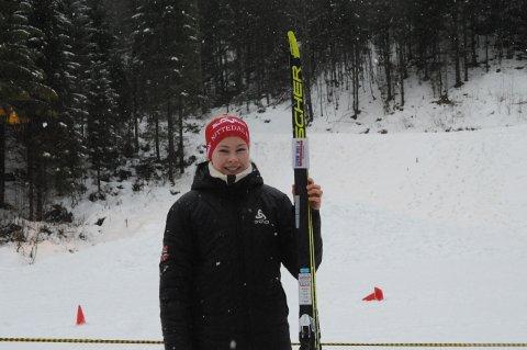 GIKK PÅ RUBB: Mathea Weydahl Andersen gikk på rubbede ski i Hakadal, og det var et godt valg.