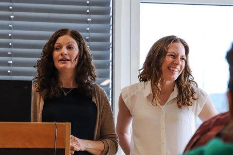 Kulturlivet lever i beste velgående i Nittedal, slår nyvalgt leder av det lokale kulturrådet, Camilla Haugo (t.h) fast. Her avbildet sammen med styremedlem Heidi Haraldsen.