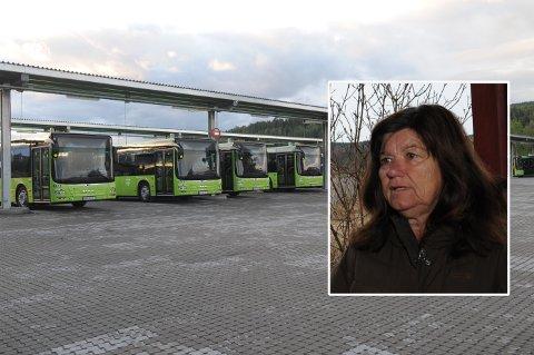 STØY-FLYKTNING: Støyen fra bussgarasjen på Kjul, både under anleggsarbeidet og nå under ordinær drift, er blitt for mye for Inger Johanne Bjørkevoll Kjuul. Hun orker ikke lenger bo i hjemmet gjennom de siste 50 årene.