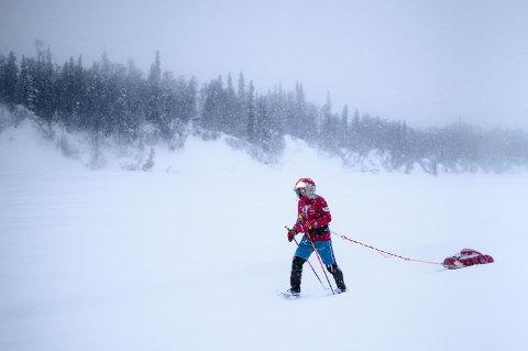 LABBET 563 KILOMETER: Frode Lein deltok tidligere i mars i Idatirod Invitational. På startstreken sto 72 utøvere som krysset Alaskas villmark ved bruk av egen muskelkraft.