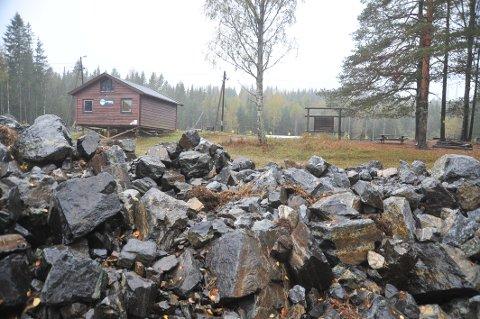LØYPE PÅ VENT: Skiskytterlaget har allerede fått tilkjørt overskuddsmasser fra Nittedal stasjon til Sagerud, masser som skal brukes som fundament for  rulleskiløype.