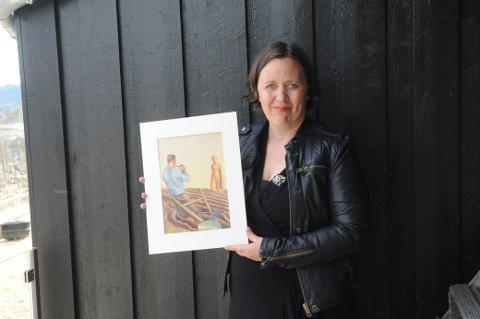 FLØRT: Denne akvarellen av Borghild Rud er en av årets godbiter på vårutstillingen til Nittedal IL, forteller nyvalgt komitéleder Turid Byfuglien Moseby.