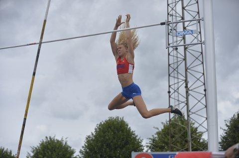KJEMPER I TOPPEN: Hedda Hauge ble nummer fire på nordisk juniormesterskap i Danmark denne helgen. (Foto: Vestpress)