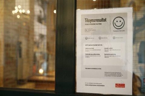 IKKE FULL POTT: Mattilsynet har besøkt og sjekket fem spisesteder i Vestby. Fire fikk smilefjes, mens en fikk strekmunn i løpet av august.