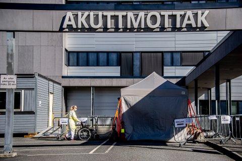 FØRSTE DØDSFALL: En mann i 60-årene fra Moss døde på Kalnes sykehus fredag kveld. Mannen hadde fått påvist koronaviruset og var i risikogruppen.