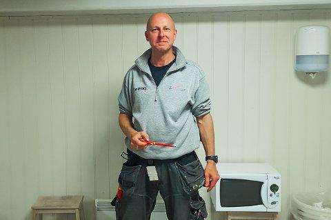NOMINERT: Lennart Måleng Sørli jobber til daglig ved Vestby Elektro-Service AS.