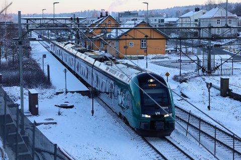 UTEN TOG: I påsken vil det ikke gå tog på Østfoldbanen.