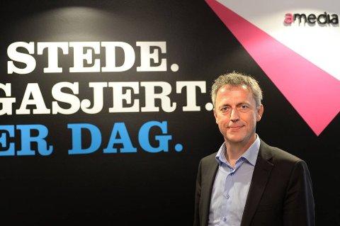 FORTSETTER: Salget innebærer at Amedia drives videre som i dag, med Larvik-mannen Are Stokstad som konsernsjef.