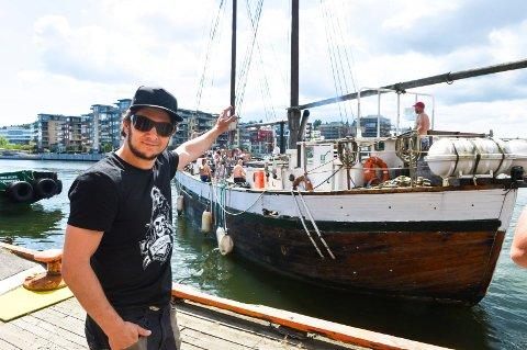 PIRAT: Jarle Andhøy har markert seg både lokalt og nasjonalt. Her fra Piratfestivalen i Tønsberg.