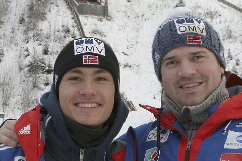 Trening: Phillip Sjøen har fått verdifull trening med Kollenhopp-trener Roy Erland Myrdal før avreise til Finland. arkivfoto